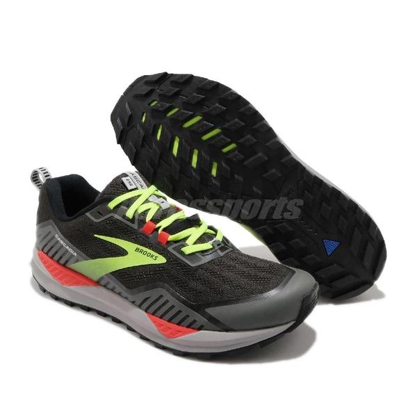 Brooks 慢跑鞋 Cascadia 15 2E Wide 寬楦 黑 黃 男鞋 運動鞋 【ACS】 1103402E076