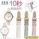 手錶帶 女錶帶粉色藍色代用阿瑪尼迪奧巴寶莉DW化石無紋錶鍊14 16mm 向日葵
