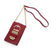Petite Jolie  復古金屬扣飾果凍相機包-紅色