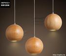 INPHIC- 三頭簡約木頭球形北歐藝術吊燈服裝店咖啡廳吧台餐廳裝飾燈_S197C