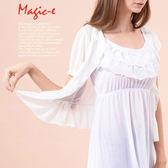 魔法e裳《網紗公主袖荷葉邊罩衫》-X021
