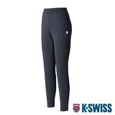 K-SWISS Straight Pants棉質長褲-女-黑