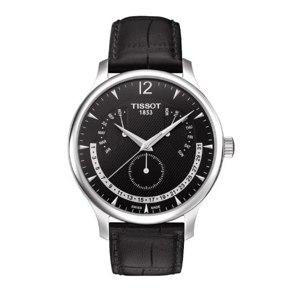 TISSOT天梭錶TRADITION逆跳萬年曆石英腕錶(T0636371605700 )原廠公司貨