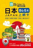 即期特價【意遊全球wifi】日本上網卡 SIM卡 5天8GB  DOCOMO 4G LTE網路 日本5天8G高速吃到飽!!!