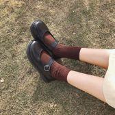 夏季韓版復古可愛軟妹淺口小皮鞋瑪麗珍鞋大頭鞋學生女 萊俐亞