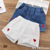 女童短褲夏季2019新款潮兒童洋氣白色牛仔褲外穿女孩百搭褲子夏裝 漾美眉韓衣