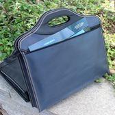 文件包帆布文件袋手提A4公文袋拉錬會議袋多層防水加厚資料包男 小確幸生活館