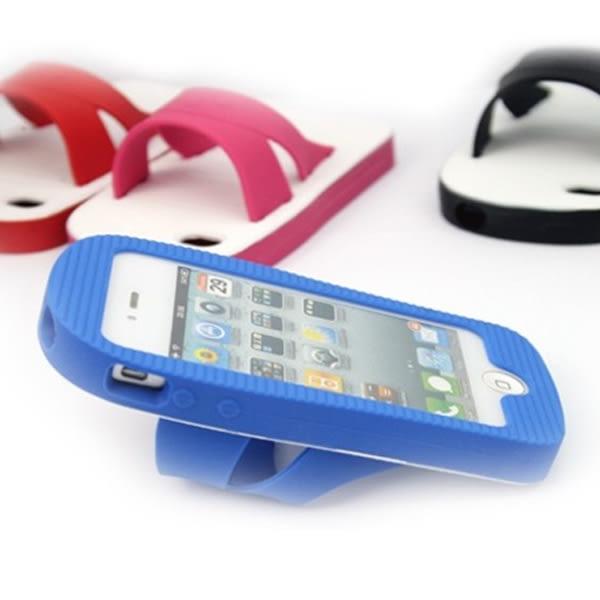 BO雜貨【SV9631】復古藍白拖鞋 紅白拖鞋 手機殼 保護殼 手機套 iPhone4/4s/5 三星S3/S4 HTC