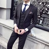 FINDSENSE H1男士 男士 單扣 西裝 經典 條紋色系 彈力面料 修身 套裝 西服 外套 馬甲 西褲 三件套