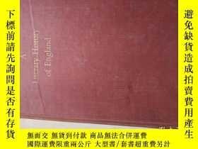二手書博民逛書店A罕見LITERARY HISTORY OF ENGLAND (