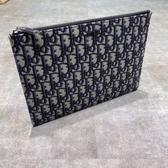 ■專櫃83折■全新真品■Dior 斜紋緹花手拿包