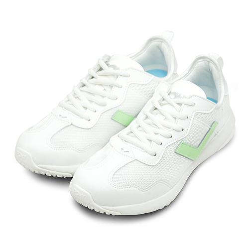 LIKA夢 PONY 繽紛韓風復古慢跑鞋 SOHO+ 甜心運動系列 白粉綠 73W1SQ61RW 女