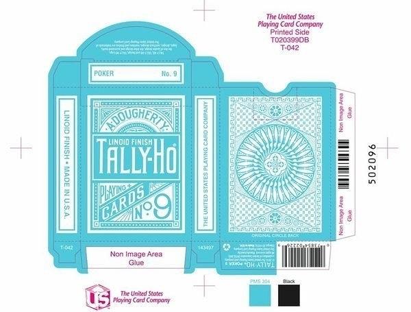 【USPCC 撲克】TALLY-HO BLUE ROSE V2 反水藍圓背 撲克牌