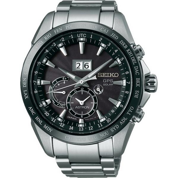 【台南 時代鐘錶 SEIKO】精工 ASTRON 太陽能GPS衛星定位腕錶 SSE149J1@8X42-0AC0D 黑/銀 44mm