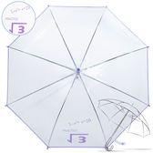 樂嫚妮 自動開傘/直立透明雨傘-紫 數學程式
