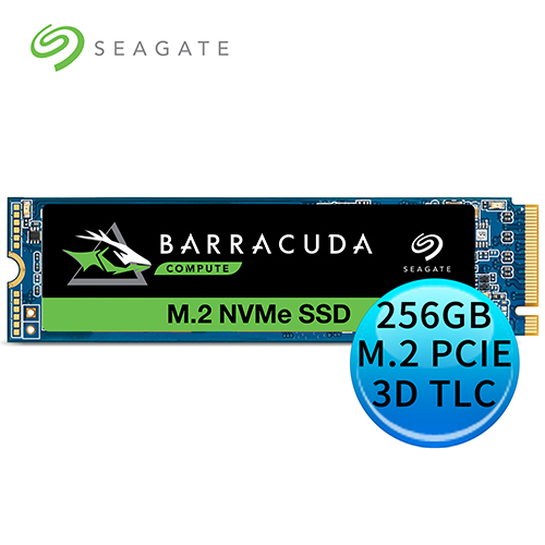 Seagate 新梭魚BarraCuda 510 256GB M.2 2280 PCIE SSD 固態硬碟 (ZP256CM30041)