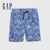 Gap男幼童 棉質舒適鬆緊休閒短褲 541937-海軍藍色