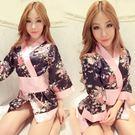 情趣內衣性感日式印花和服角色扮演游戲制服極度誘惑套裝女式睡衣