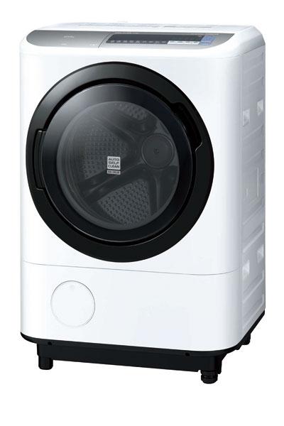 《日立 HITACHI》12.5公斤 溫水尼加拉飛瀑 滾筒洗脫烘洗衣機 BDNX125BJ 左開 (W)星燦白/(N)香檳金
