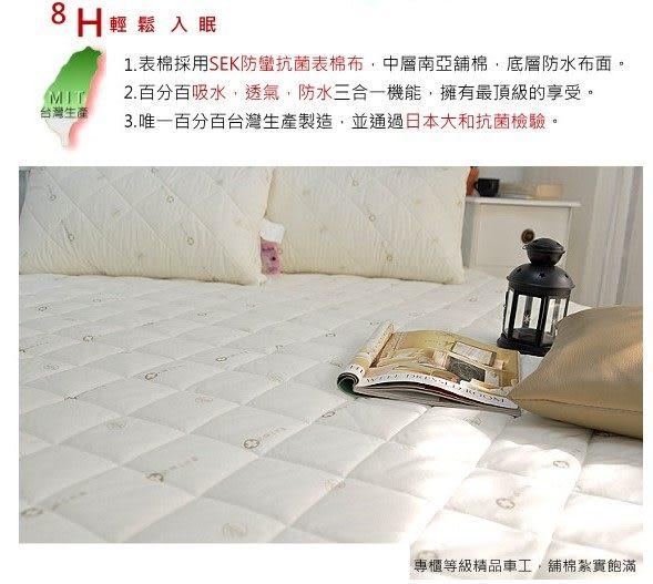 6尺雙人加大《機能型防水+抗菌保潔墊》˙SEK-防蹣【全方位防水保潔墊】