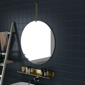 浴室掛鏡 北歐壁掛式浴室鏡ins圓鏡輕奢衛生間梳妝化妝掛鏡洗手間裝飾鏡子【全館免運】