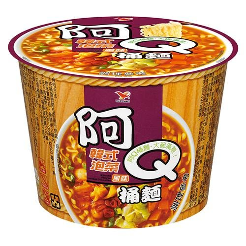 阿Q桶麵韓式泡菜風味102g*3桶/組【愛買】