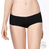 LADY 夢幻W系列 中低腰平口內褲 ( 時尚黑 )