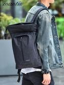 男背包休閒雙肩包男士簡約時尚潮流旅行包青年大容量大學生電腦包