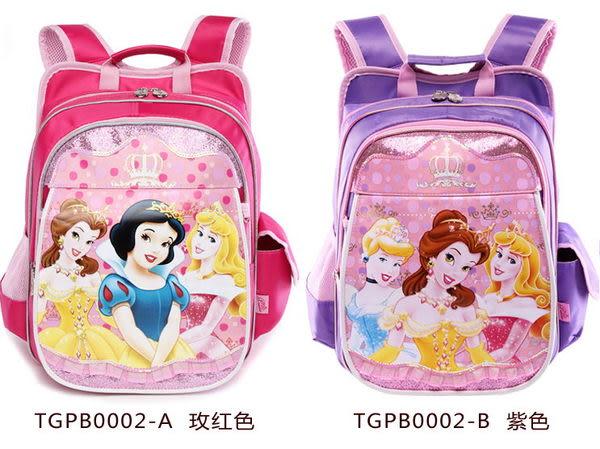 正版Disney 迪士尼公主系列 小學生書包 健康護脊後背包-粉色款/單售