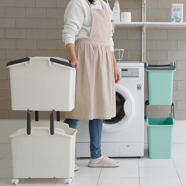 洗衣籃 韓國 Nplastic 收納籃 髒衣籃 分類籃【G0023】順手分類髒衣籃35L 韓國製 收納專科