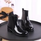 雨靴 雨鞋女短筒韓國可愛成人膠鞋時尚款外穿水鞋雨靴防水套鞋加絨保暖 (八二折)