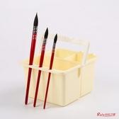洗筆桶 二重三個格子大號洗筆筒/筆洗/涮筆水桶/適合可多次漂洗多功能洗顏料美術用品