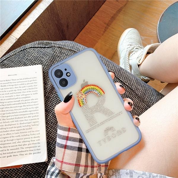 蘋果12 mini保護套 水鑽韓版IPhone 12手機殼 個性創意iPhone12 Pro Max保護殼 全包防摔蘋果12 Pro手機套