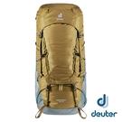 【德國 deuter】AIRCONTACT LITE 拔熱式透氣背包55+10L『土/湖藍』3320321 大背包 背包客 渡假打工
