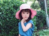 夏天兒童帽子女童遮陽帽防曬寶寶太陽帽涼帽空頂公主大帽檐秋季潮  百搭潮品