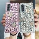 三星 S21 Note20 Ultra A72 A52 A32 A42 5G A71 A51 S20+ A70 寶石珍珠花 手機殼 水鑽殼 訂製