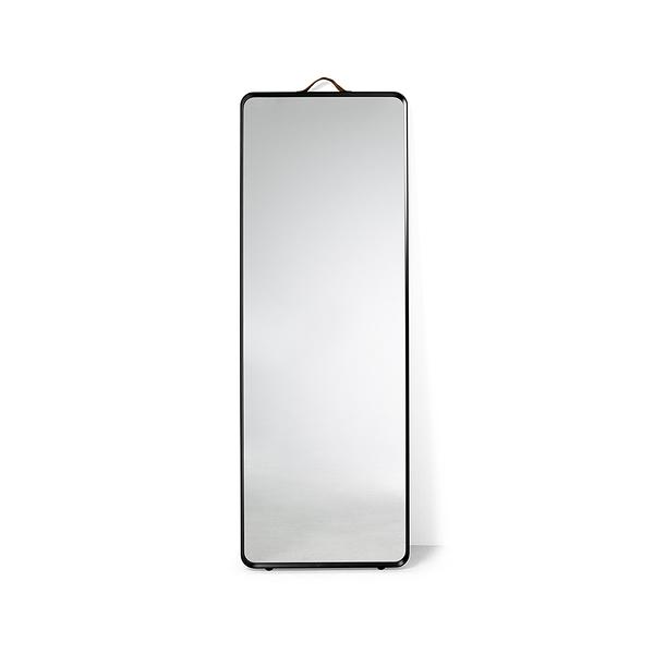 丹麥 Menu Floor Mirror 簡約方形系列 壁掛 / 落地式兩用 立鏡(黑色金屬框架款)