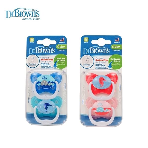 Dr. Brown's布朗博士 - PreVent功能性人體工學安撫奶嘴 2入裝