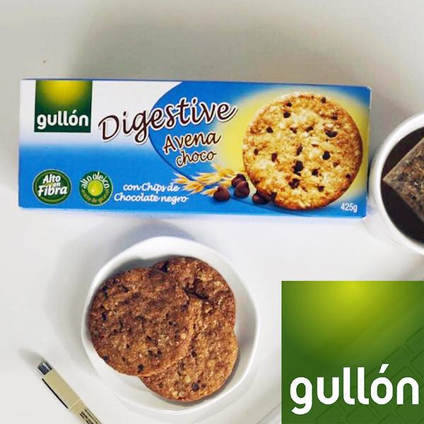 Gullon穀優燕麥黑巧克力豆消化餅265g _愛家嚴選 純素口糧 全素好吃零食 健康素食點心 原裝進口
