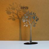 OPUS 歐式鐵藝飾品架/金屬首飾座/收納架(蘋果樹_黑)
