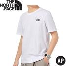 【The North Face 男女款 短袖上衣AP《白》】4U9I/短T/休閒短袖/T恤