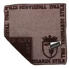 TRUSSARDI立體獵狗徽章棉質方巾(咖啡)989045-307