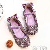 小皮鞋 女童公主鞋韓版春秋季小女孩銀色水晶鞋皮鞋兒童單鞋軟底 童趣屋