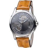 HAMILTON漢米爾頓 JAZZMASTER爵士系列 80小時自動腕錶 H32565585 鴕鳥皮