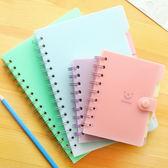 ♚MY COLOR♚ 笑臉側翻線圈筆記本(小) 學生 設計 辦公 創意 文具 科目 微笑 記事本【P189】