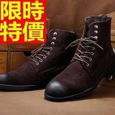 馬丁靴-反絨皮真皮尖頭擦色中筒男靴子4色64h13【巴黎精品】