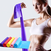 瑜珈運動彈力帶 拉力帶 健身 男女 阻力帶 力量訓練 拉伸 乳膠 拉力繩【P498】MY COLOR