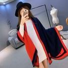 羊毛絨長披肩-怪獸印花柔軟質感女圍巾2色73hy7【時尚巴黎】