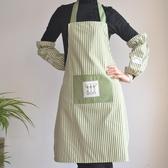 布藝條紋韓版圍裙 圍裙 袖套 三件套圍裙廚房圍裙工作圍裙