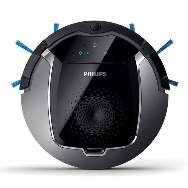 【超值下殺】飛利浦PHILIPS掃地機器人 (升級版/廣角超寬吸嘴/8cm高)(FC8822/31)